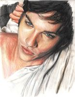 J.Rhys Meyers.again.pencil. by Bitterkawaii