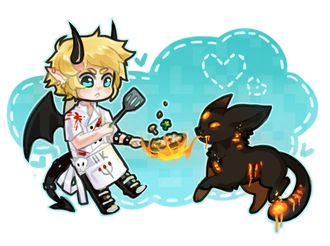 Cooking Puppy - comm by chiickadee