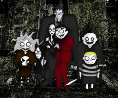 Tim Burton style The Addams Family by Little-Horrorz