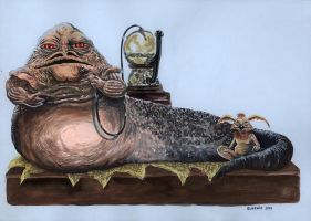 Jabba The Hutt by Dracowhip