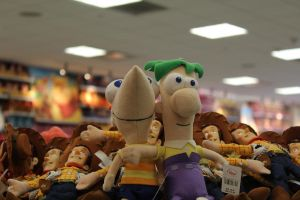 phineas y ferb puppets XD by SukiYue