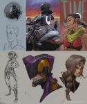 2014 Wrap up Sketches by justinwongart