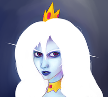 Ice Queen portrait by funnbunns