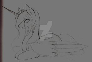 Alicorn Mare Sketch by ErinKarsath