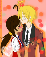 Kiss me lyk in the animes by Caffiene-dono