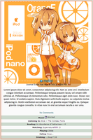 Orange iPod Nano Journal Skin by double-rainbow-chan