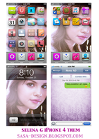 Selena gomez iphone them by sasa-92