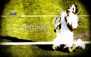 Roger Federer by Hackercyar