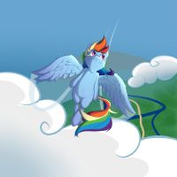 [Collab-ish w/ Vicse] Rd flying about. by Dashermkii