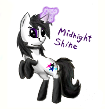 Midnight Shine -colored- by CoolCherryChan