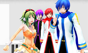MMD - GUMI and Kaito fighting... by Shichi-4134