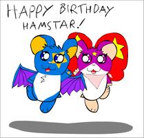 BG: Hamstar and Stella - Stars by schoolfilmer