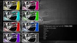 Old car HD 8 color by 3DEricDesign