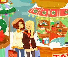 Happy Holidays Noelle and Melanie! Commish by star-melody