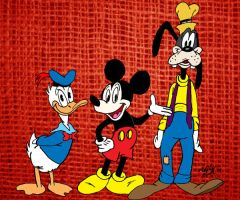 Mickey, Donald and Goofy by MatthewHunter