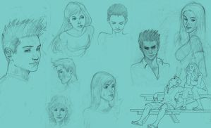 Doodles and sketches by Santini