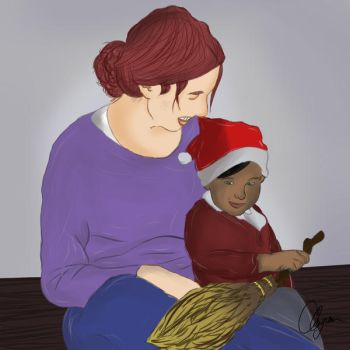 Harry's first Christmas by cganea