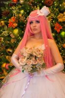 Luka Megurine Bride Cosplay Portrait by Lovelyrosevampress