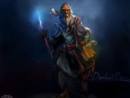 Deckard Cain Wallpaper by dangb