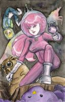 Space Time Queen Bubblegum by AmberStoneArt