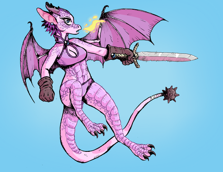 Dragon Girl by rabbitmaskedman