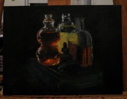 Glass Bottle Study WIP by hever