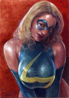 Ms. Marvel card 641 by charles-hall