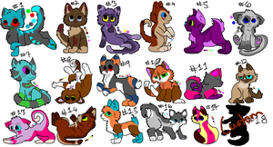 Chibi Adopts (18/18 open) by katleidoscopic