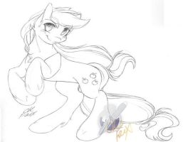:Com: Applejack Sketch by CK-Faux