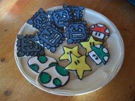 Mario cookies by estranged-illusions