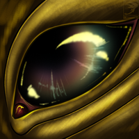 Eye-Con Comish - Oil on Gold by TwilightSaint