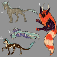Creature Adopt Set - Auction - CLOSED by Artha-Demon