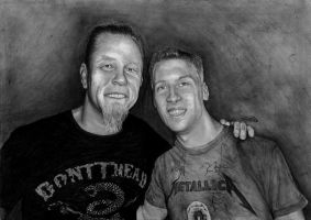 James Hetfield with fan by Yankeestyle94