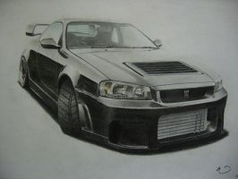 Nissan GTR by LOLLIPOP007