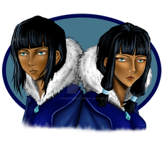 Eska and Desna by FeignedIntent