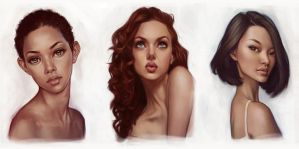 Portrait Studies by giselleukardi