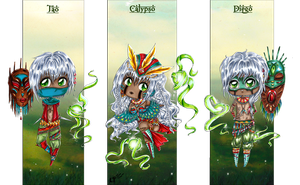 .Oc. Chibi~ The Shamans ~ by Linelana
