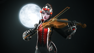That Huntress, playing the violin. by DarknessRingoGallery