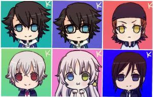 K Project Chibi~ by IceSugarTeaSweet