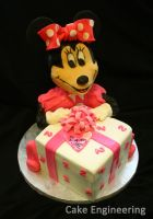 Minnie Mouse Cake by cake-engineering