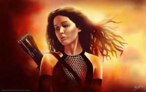 Katniss by DaniSeik