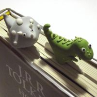 Polymer clay bookmarks by Melarin