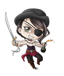Chibi Challenge - Pirate Mia by MarvelPoison