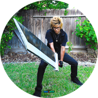 Cloud Strife Cosplay Incomplete 2 BATTLE STANCE by sonicJKevin