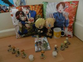 Totally not obsessed with Hetalia:DChristmas gift by Nonirikku