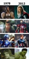 The Avengers : Then and now by Yvesia