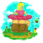Peach's Double Ground Pound by AfraArt