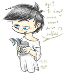 Little coffee by thedalmatiangirl