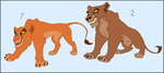 Two Lioness Adoptables - CLOSED by HydraCarina