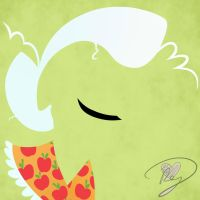Minimalist Granny Smith by Because-Im-Pink